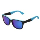 Unisex Fashionable Outdoor UV400 Protection TR90 Frame Polarized Sunglasses - Black + Blue REVO