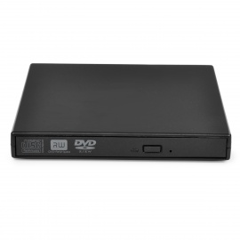 USB 2.0 Ultra-Slim Portable External DVD / CD-RW Drive - Black