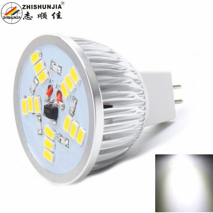 ZHISHUNJIA MR16 5W LED Lamp Bulb Cold White 400lm 15-SMD 5630 (12V)