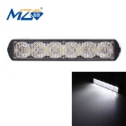 MZ Wired 18W 6-LED Car Flashing Warning Signal Lamp White Light 1080lm - Black (12~24V)