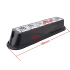 MZ 18W White 6-LED Car Flashing Warning Signal Lamp - Black (12~24V)