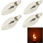 YouOKLight E14 3W 150lm Red Light Flame-Shaped LED Lamp Light Bulb (AC 230V / 4 PCS)