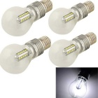 YouOKLight  E27 5W 480lm 6500K 25-SMD 2835 LED Cool White Light Bulb - Silver (AC 85~265V / 4 PCS)