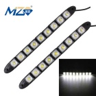 MZ 4.5W 9-5050 SMD 180lm LED Car Daytime Running Light / Fog Lamp Flexible Snake (12V Pair)