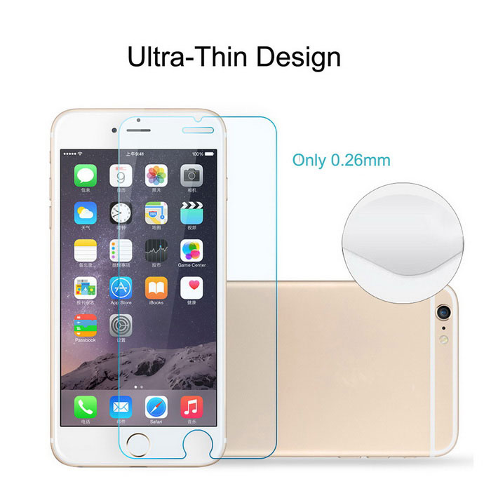 Film de verre trempé clair ASLING 0.26mm pour IPHONE 6Plus - transparent