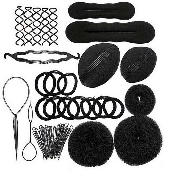 8-in-1 Fashion Weaving Hair Tools Combination - Black