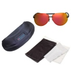 Reedoon 2223 Polarized UV400 Resin Lens Sunglasses - Black + Orange