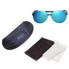 Reedoon 2223 Polarized UV400 Resin Lens Sunglasses - Black + Blue