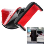 360 Angle Rotating Free Sucked Type Mobile Phone Stand Holder Universal Car Mount - Black + Red