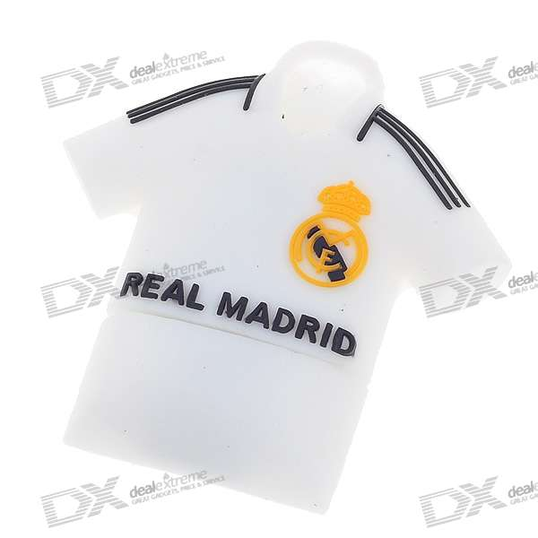 Football Team Uniform USB 2.0 Flash/Jump Drive - Real Madrid (4GB)