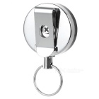 Outdoor Anti-Lost Keyring Keychain w/ Retractable Steel Wire Rope - Silvery White + Black