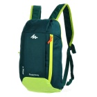 Decathlon Outdoor Travel Casual Canvas Double-Shoulder Bag Schoolbag Backpack - Deep Green (10L)