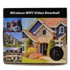 Wireless Wi-Fi Video Doorbell w/ 5-IR-LED / Unlock - Black (US Plug)