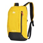 Decathlon Outdoor Travel Casual Canvas Double-Shoulder Bag Schoolbag Backpack - Yellow (10L)
