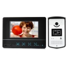 "7"" cor TFT LCD Home Security Video da porta telefone Kit w / IR Night Vision - preto + prata (UE Plug)"