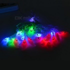 Ghost Style EU Plug 3W 10lm RGB LED String Light - White + Black