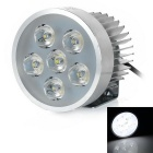 Wired 18W 6500K 1800lm White Light 6-LED Motorcycle Headlight Headlamp - Silver