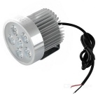 Wired 18W 6500K 1800lm White Light 6-LED Motorcycle Headlight - Silver