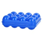Plastic 12 Eggs Carrier Container Storage Box Case for Picnic - Blue