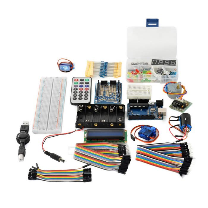 Uno r starter learning kit for arduino black free