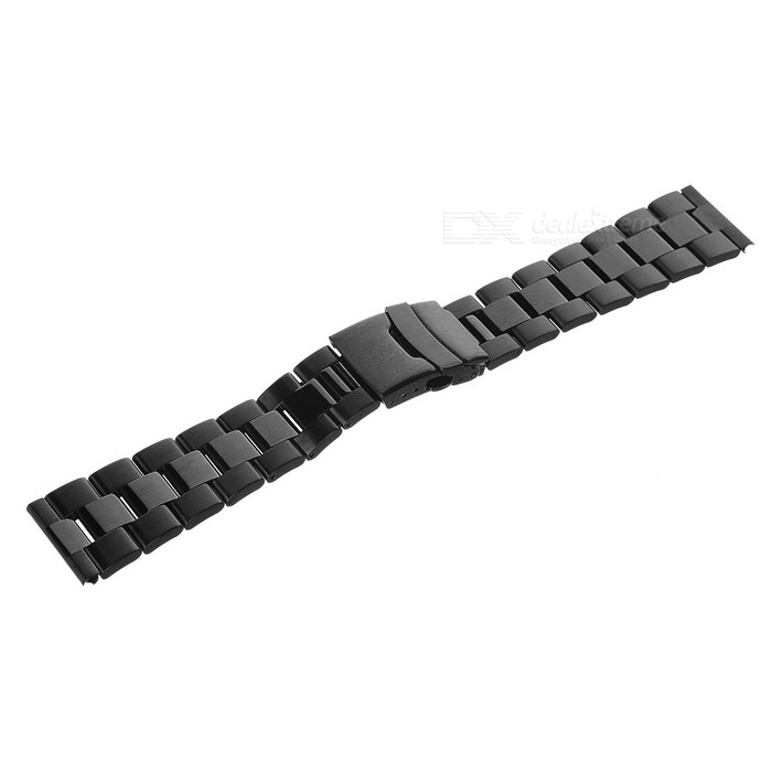banda de reloj de acero inoxidable de mini sonrisa para APPLE 42mm RELOJ - negro
