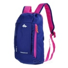 Decathlon Outdoor Travel Casual Canvas Double-Shoulder Bag Schoolbag Backpack - Purplish Blue (10L)