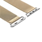 Mini Smile Stainless Steel Watch Band for 42mm APPLE WATCH - Golden