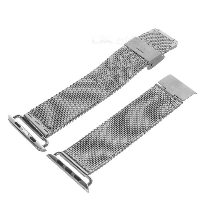 Mini reloj de acero inoxidable de la sonrisa para 38mm APPLE WATCH - plata