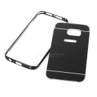 Aluminum Alloy Frame + PC Back Case for Samsung S6 Edge - Black