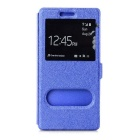 Retro Protective PU Case w/ Stand / Dual Visual Window for Huawei P8 - Blue