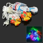 Christmas Snowmen 3W 20-LED String Lights RGB - White + Yellow + Multicolor (EU Plug / AC 220V / 4m)