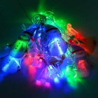 Christmas Snowmen 3W RGB 20-LED String Light - White + Yellow (4m)