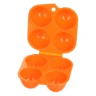 Sunfield PP 4-Cup Egg Container Holder for Camping / Picnic - Orange