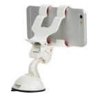 Rotatable PVC Car Mount w/ Double Long Clips - White