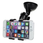 Rotatable PVC Car Mount w/ Double Long Clips - Black