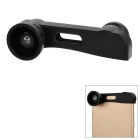 3-in-1 0.67X Wide-Angle + 180' Fish Eye + 10X Macro Camera Lens Kit for IPHONE 6 PLUS - Black