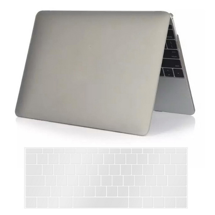 "Mr.northjoe PC Body Case + Keyboard Cover for MACBOOK 12"" - Grey"