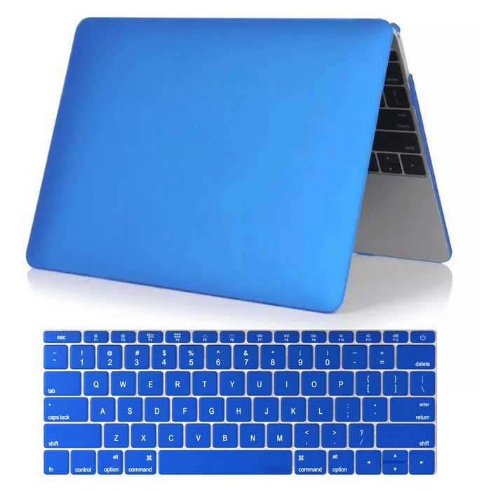 "Mr.northjoe PC Body Case + Keyboard Cover for MACBOOK 12"" - Deep Blue"