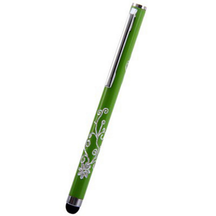 Kinston Embossing Style Aluminum Touch Screen Pen Stylus - Green