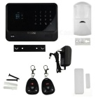 GPRS + GSM Alarm System w/ Wi-Fi Support Andriod and IOS APP - Black (US Plug / 1-Lithium Battery)