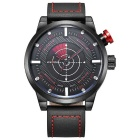 WEIDE WH5201 Men's Famous Waterproof Sport Leather Band Quartz Analog Watch - Red (1 x SR626SW)