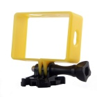 PC Fixed Protective Frame + Long Screw + Buckle Mount Set for Xiaomi Xiaoyi Camera - Yellow + Black