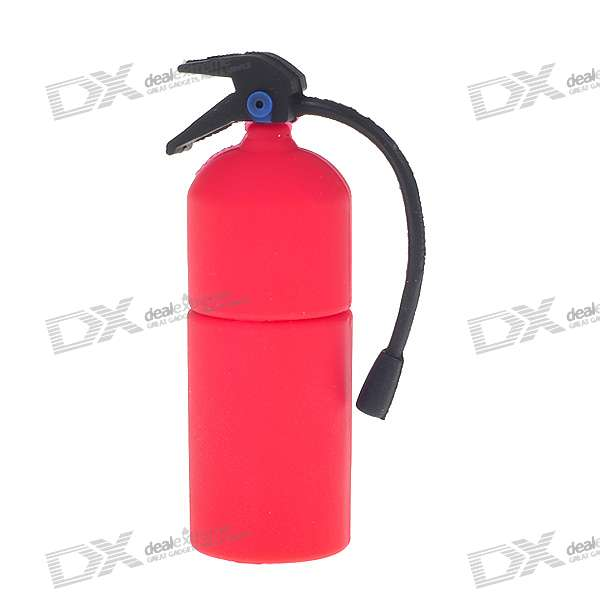 Fire Extinguisher USB 2.0 Flash/Jump Drive - Red (2GB)