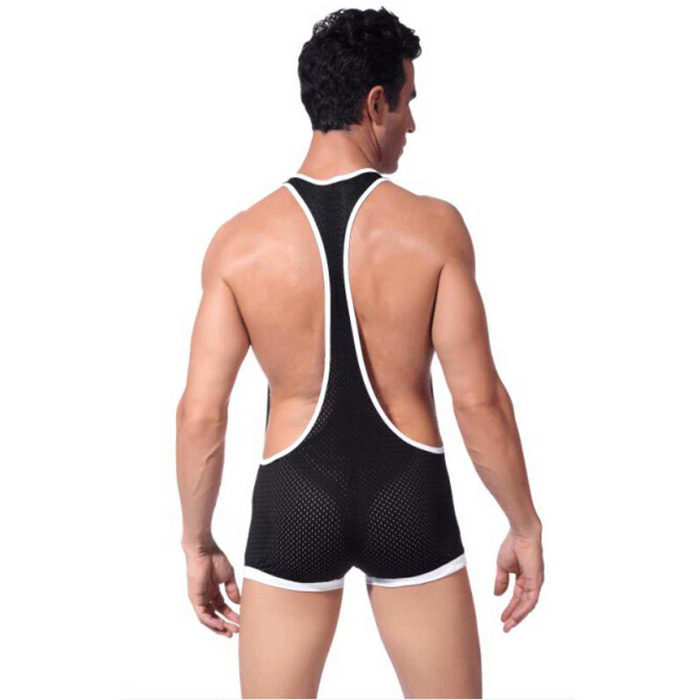 Men's Breathable Mesh Strap One-Piece Sexy Underwear