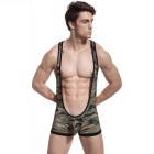 Men's Suspenders One-Piece Sexy Lingerie Underwear - Camouflage (L)