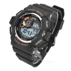 SANDA Waterproof Anti-Shock Digital Watch - Black + Gold (1*2016)