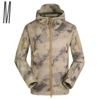 Casual Men's Warm Waterproof Windproof Jacket - AU Camouflage (Size M)