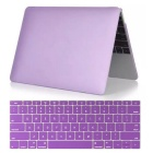 "Mr.northjoe 2-in-1 Protective PC Full Body Matte Case + Keyboard Cover for MACBOOK 12"" - Purple"