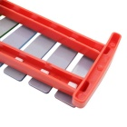 8-Tone Hand Knock Glockenspiel Xylophone Instrument - Red + Multicolor