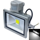 JIAWEN Waterproof 30W 6500K 2500lm White LED Human Body Infrared Induction Floodlight (AC 85-265V)